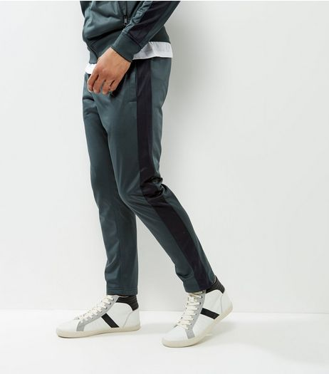 Green Track Joggers | New Look