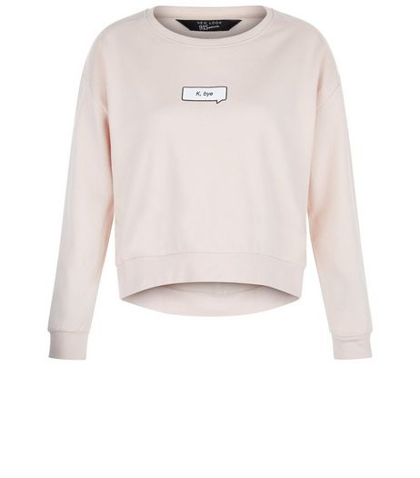 Teens Shell Pink K Bye Sweater | New Look