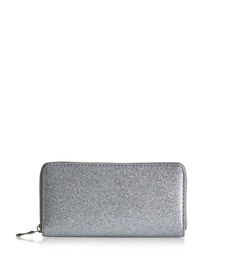 Silver Glitter Purse | New Look