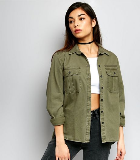 Khaki Double Pocket Shirt | New Look