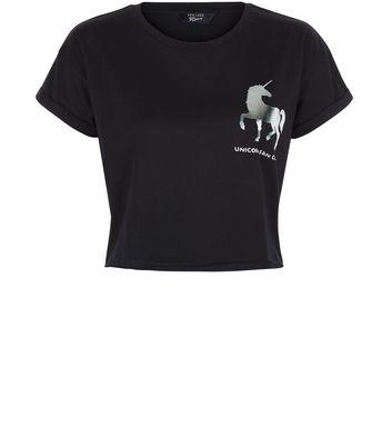 teens-black-foil-unicorn-crop-top