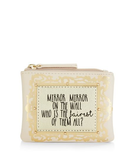 Cream Mirror Mirror On The Wall Coin Purse | New Look