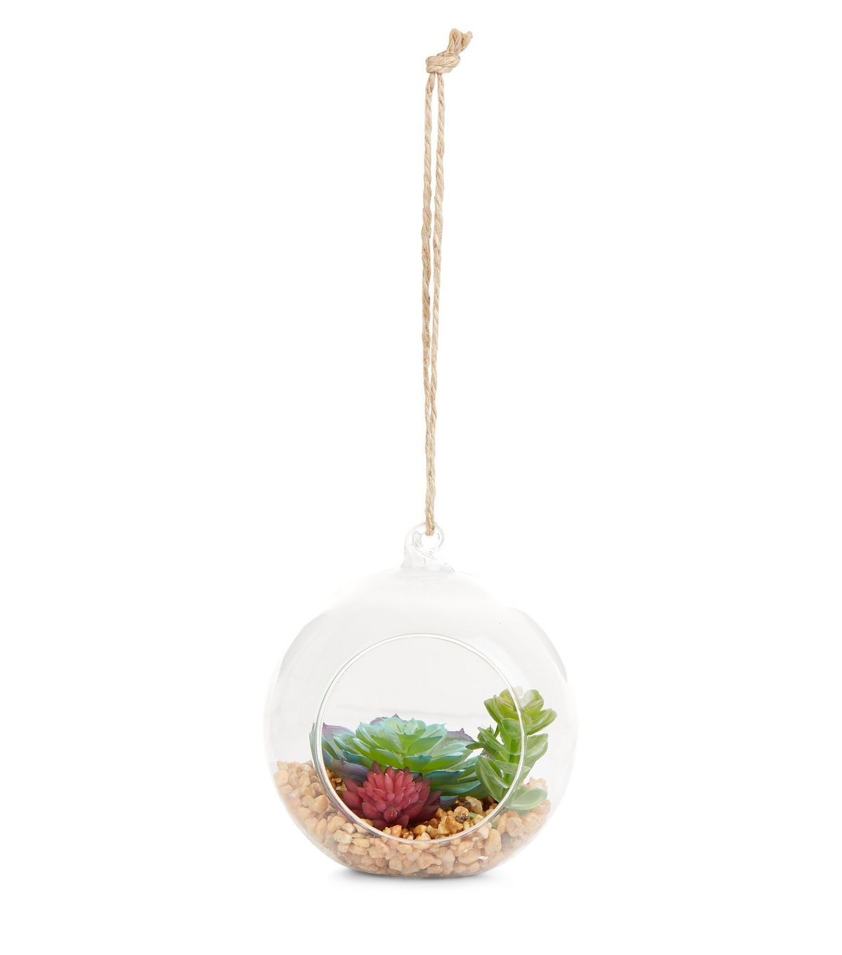 Glass Artificial Terrarium Cut Out Bauble | New Look