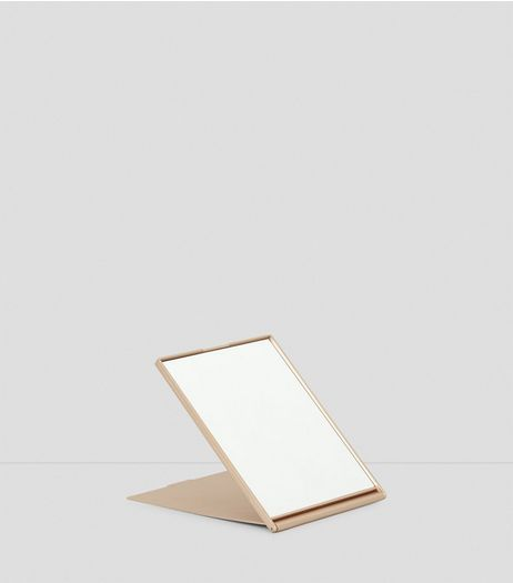 Rose Gold Travel Table Mirror | New Look