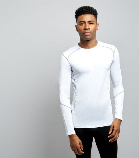 White Long Sleeve Sports T-Shirt | New Look