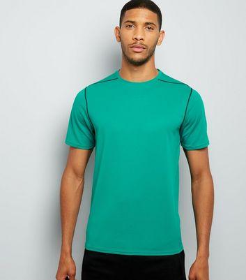 Green Mesh Short Sleeve Sports T-Shirt