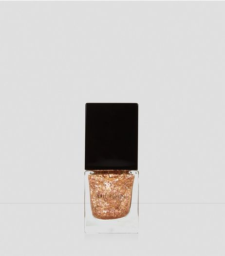 Gold Rush Glitter Nail Polish | New Look