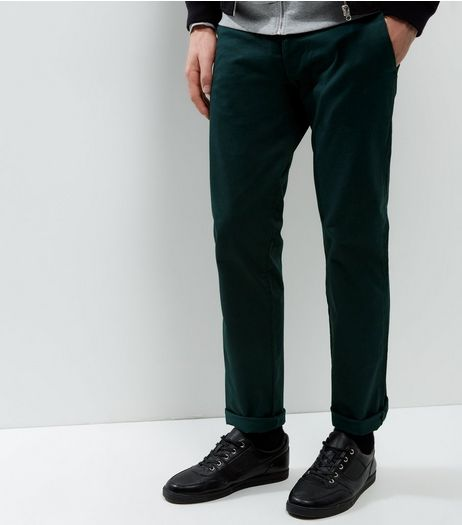 Dark Green Slim Chinos | New Look