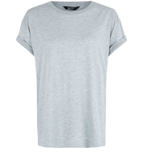 Teens. Grey Boyfriend T-Shirt | New Look