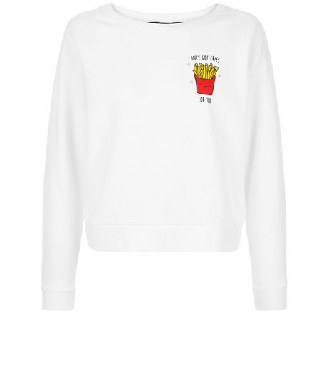Teens Only Got Fried For You Sweater  | New Look