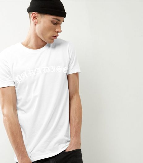 White Paradise Print T-shirt | New Look