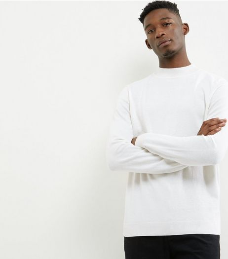 White Cotton Turtle Neck Jumper | New Look