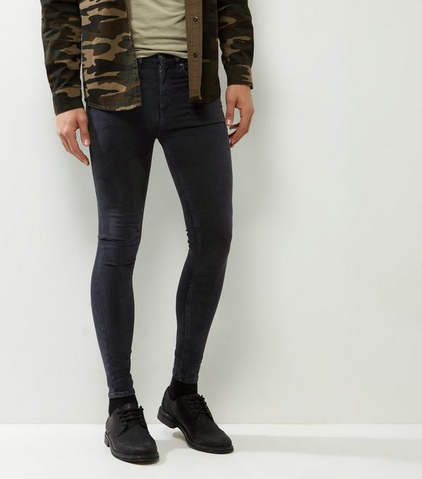 Black Washed Extreme Super Skinny Jeans
