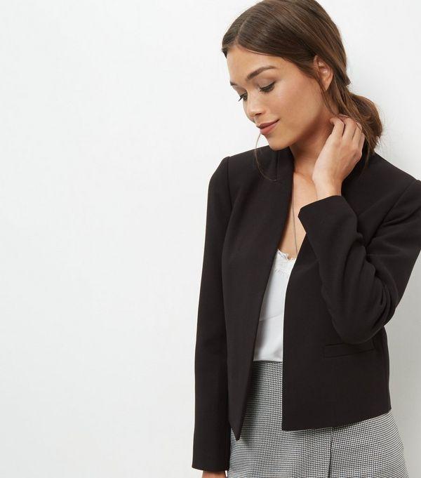 Black Cropped Jacket