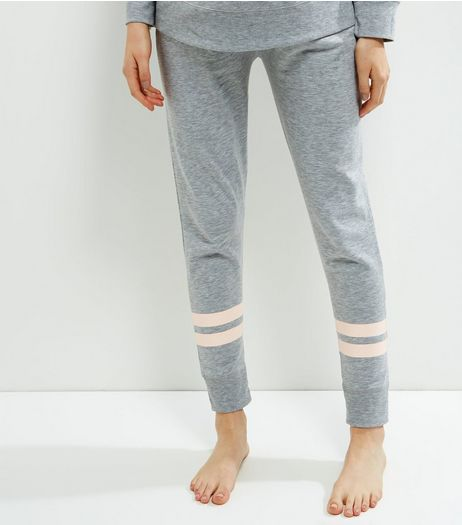 Maternity Grey Contrast Stripe Pyjama Joggers | New Look
