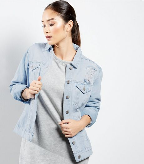 Light Blue Double Pocket Denim Jacket | New Look