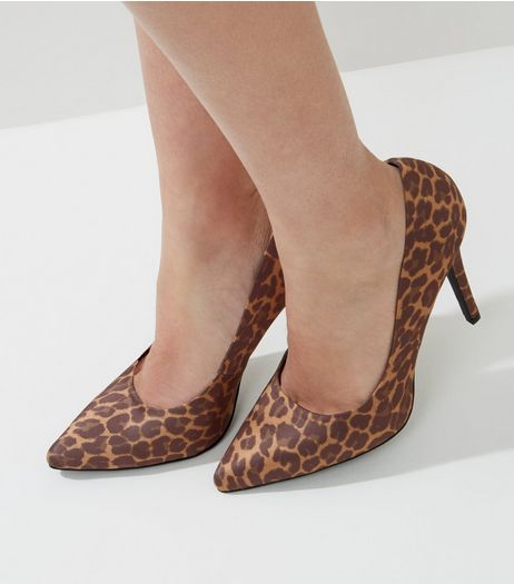 Brown Leopard Print Pointed Court Shoes | New Look
