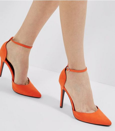 Orange Suedette Ankle Strap Heels | New Look