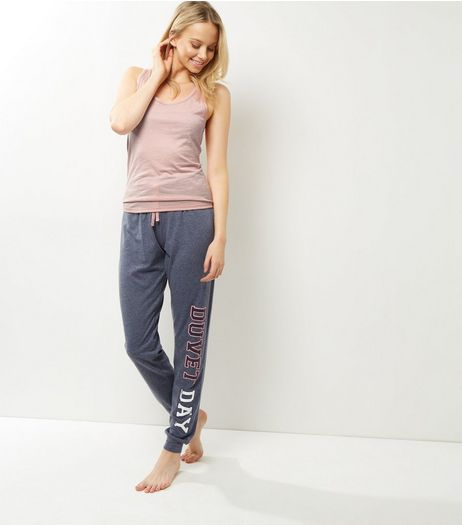 Blue Duvet Day Slogan Pyjama Set | New Look