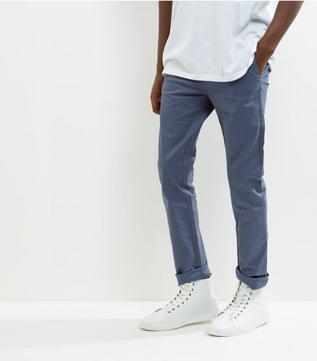 Blue Skinny Chinos | New Look