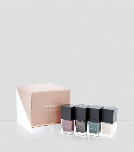 4 Pack Gloss Nail Polish Set | New Look