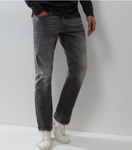 Grey Slim Leg Jeans | New Look