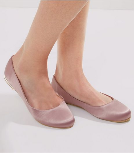 Pink Sateen Squared Toe Pumps | New Look
