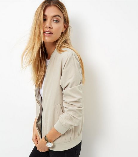Blue Vanilla Stone Bomber Jacket | New Look