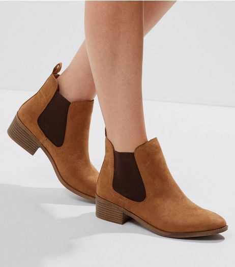 Tan Suedette Chelsea Boots | New Look