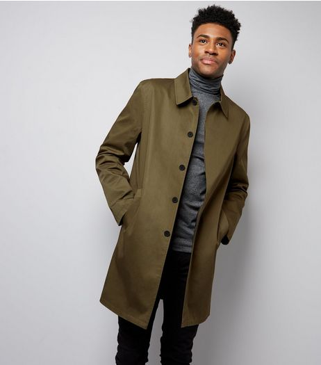 Khaki Single Breasted Trench Coat | New Look