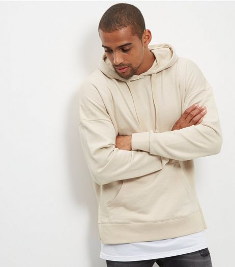 Stone Layered Hoodie | New Look