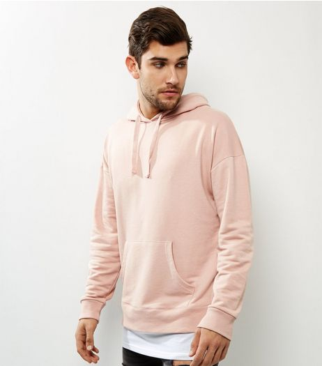 Pink Layered Longline Hoodie | New Look