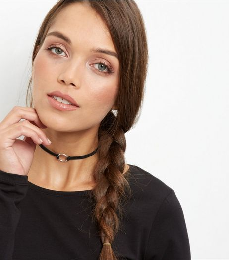 Silver Open Circle Metal Choker | New Look