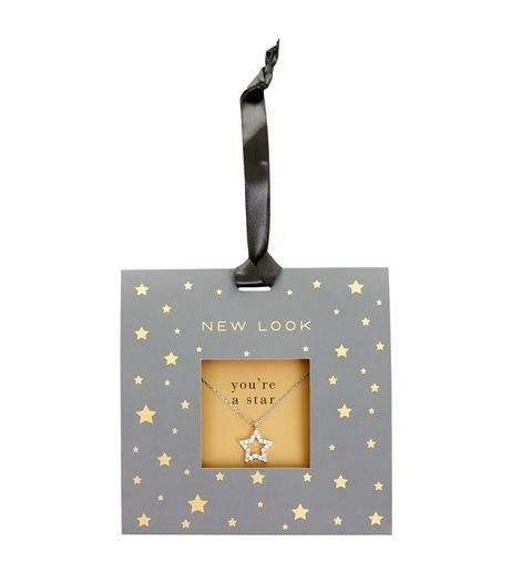 Silver Diamanté Star Pendant Necklace | New Look