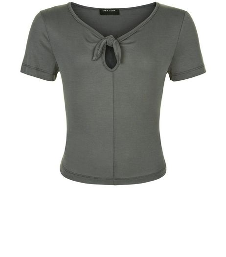 Teens Khaki Bow Front T-shirt | New Look