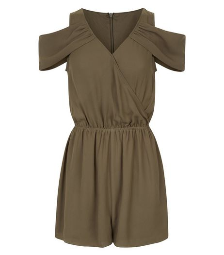 Teens Khaki Wrap Front Playsuit  | New Look