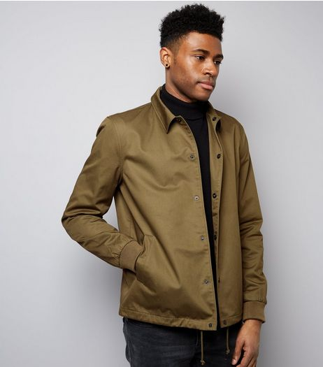 Khaki Drawstring Hem Jacket | New Look