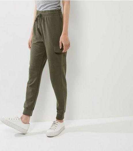 Khaki Tie Waist Pocket Side Joggers | New Look