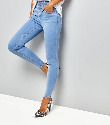 Blue High Waist Skinny Yazmin Jeans