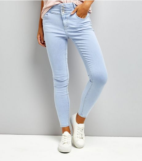 Blue High Waist Skinny Yazmin Jeans  | New Look