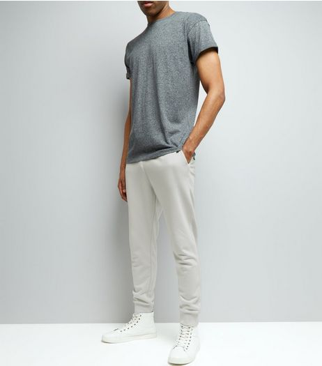 Pale Grey Basic Joggers | New Look