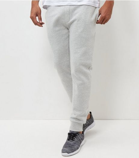 Grey Marl Basic Joggers | New Look