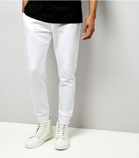 White Basic Joggers | New Look
