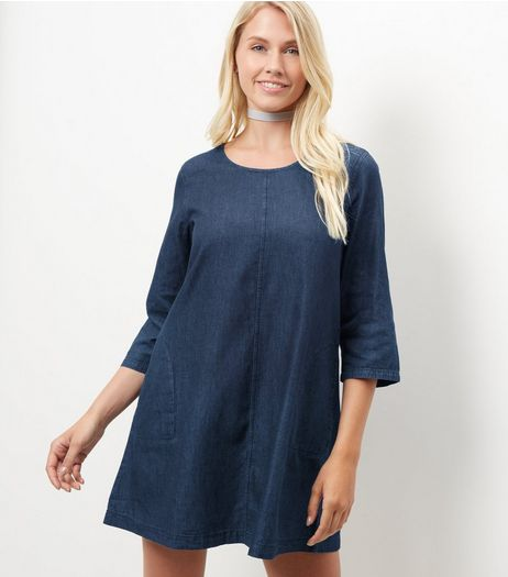 Blue Vanilla Blue Denim Shift Dress | New Look