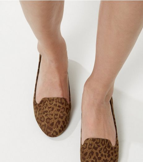 Brown Leopard Print Slipper Shoes | New Look