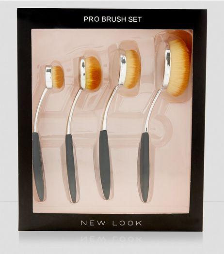 4 Pack Oval Brush Set | New Look