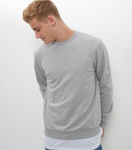 Grey Basic Crew Neck Sweater  | New Look