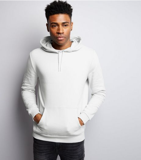 Pale Grey Pocket Front Hoodie | New Look