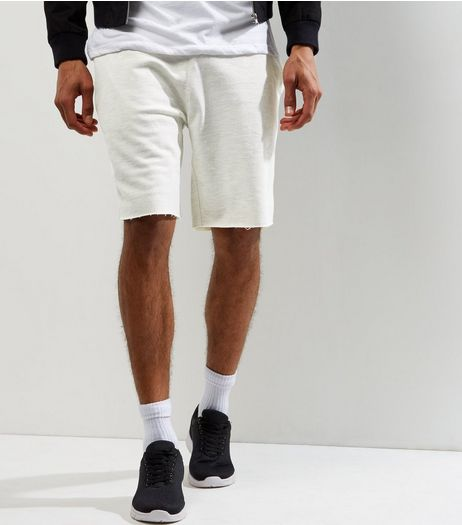 Cream Pique Shorts | New Look