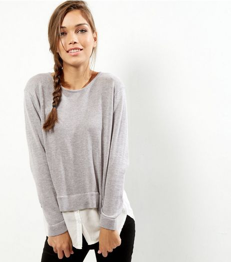 Cameo Rose Grey 2 in 1 Jumper  | New Look